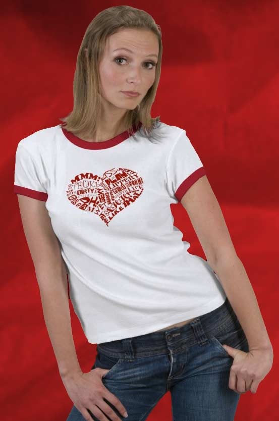 Sexy Heart Ringer Tee For $22.95.