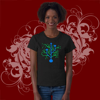 USB Tree Geek T-shirts