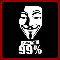 I Am The 99% Guy Fawkes