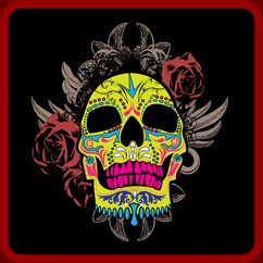 Ornate Sugar Skull Shirt Design
